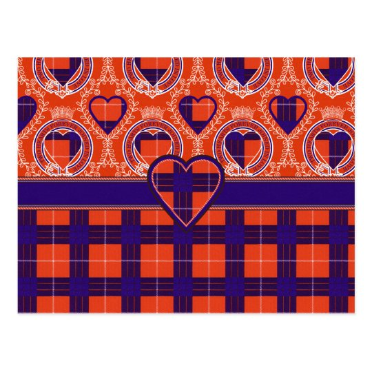 Tartán del escocés de Hamilton Postales