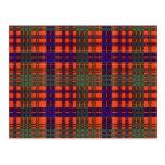 Tartán del escocés de Huntly Tarjetas Postales