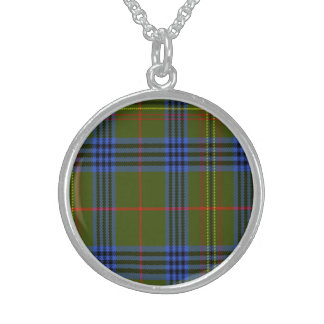 Tartán del escocés de Kennedy Collares De Plata Esterlina