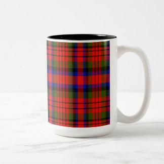 Tartán del escocés de Kilgore Taza De Dos Tonos