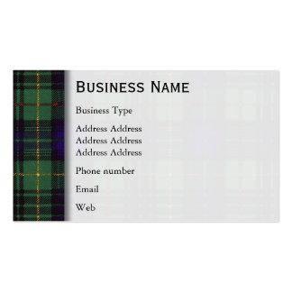 Tartán del escocés de la tela escocesa de la caza tarjetas de visita