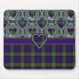 Tartán del escocés de la tela escocesa del clan de alfombrilla de ratón