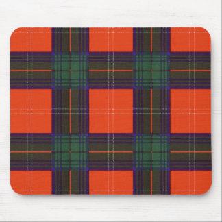 Tartán del escocés de la tela escocesa del clan de alfombrillas de raton