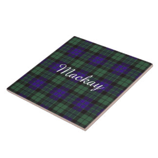 Tartán del escocés de la tela escocesa del clan de teja cerámica