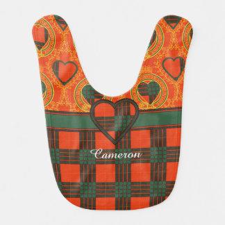 Tartán del escocés de la tela escocesa del clan de babero de bebé