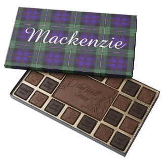 Tartán del escocés de la tela escocesa del clan de caja de bombones variados con 45 piezas