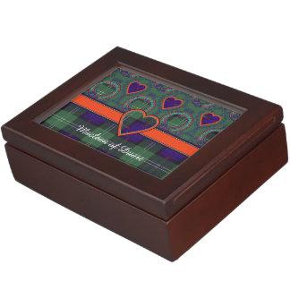Tartán del escocés de la tela escocesa del clan de cajas de recuerdos