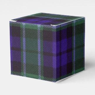 Tartán del escocés de la tela escocesa del clan de caja para regalo de boda