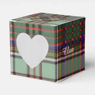 Tartán del escocés de la tela escocesa del clan de caja para regalos