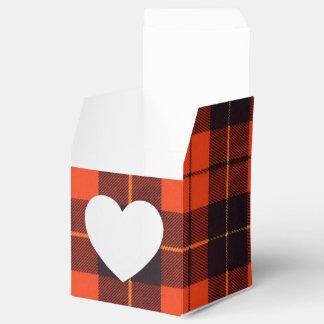 Tartán del escocés de la tela escocesa del clan de caja para regalos de fiestas