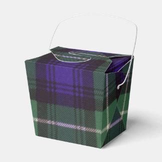 Tartán del escocés de la tela escocesa del clan de cajas para regalos de boda