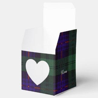 Tartán del escocés de la tela escocesa del clan de cajas para regalos de fiestas