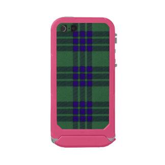 Tartán del escocés de la tela escocesa del clan de carcasa de iphone 5 incipio atlas id