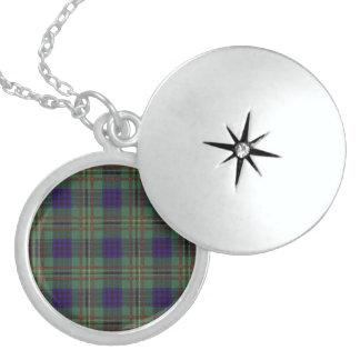 Tartán del escocés de la tela escocesa del clan de medallones