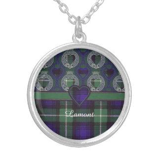 Tartán del escocés de la tela escocesa del clan de colgante redondo