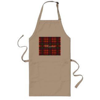 Tartán del escocés de la tela escocesa del clan de delantal largo
