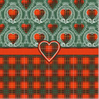 Tartán del escocés de la tela escocesa del clan de pin fotoescultura