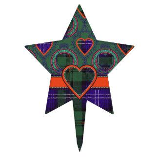 Tartán del escocés de la tela escocesa del clan de figura para tarta