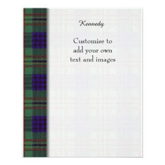 Tartán del escocés de la tela escocesa del clan de folleto 11,4 x 14,2 cm