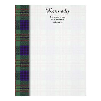 Tartán del escocés de la tela escocesa del clan de folleto 21,6 x 28 cm
