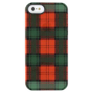 Tartán del escocés de la tela escocesa del clan de funda clear para iPhone SE/5/5s