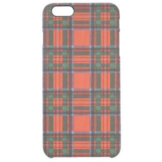 Tartán del escocés de la tela escocesa del clan de funda clearly™ deflector para iPhone 6 plus de unc
