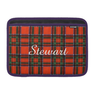 Tartán del escocés de la tela escocesa del clan de funda macbook air