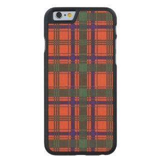 Tartán del escocés de la tela escocesa del clan de funda de iPhone 6 carved® slim de arce