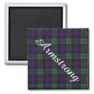 Tartán del escocés de la tela escocesa del clan de imán cuadrado