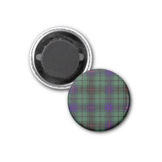 Tartán del escocés de la tela escocesa del clan de imán redondo 3 cm