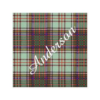 Tartán del escocés de la tela escocesa del clan de impresión en lienzo