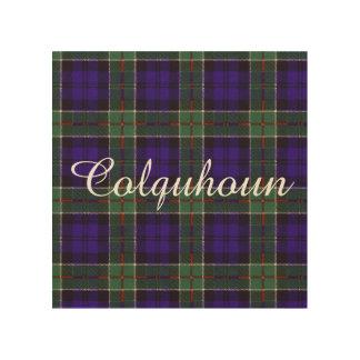 Tartán del escocés de la tela escocesa del clan de impresiones en madera