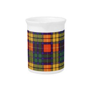 Tartán del escocés de la tela escocesa del clan de jarras para bebida