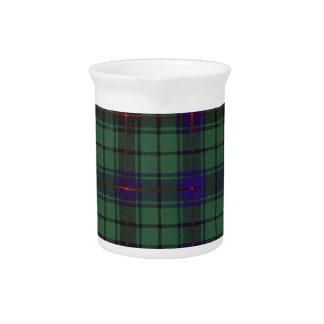 Tartán del escocés de la tela escocesa del clan de jarra