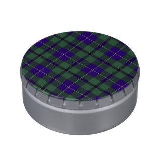 Tartán del escocés de la tela escocesa del clan de jarrones de caramelos