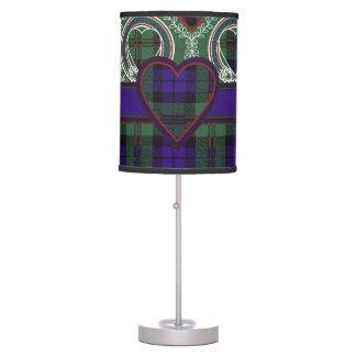 Tartán del escocés de la tela escocesa del clan de lámpara de mesa