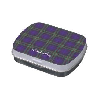 Tartán del escocés de la tela escocesa del clan de frascos de dulces