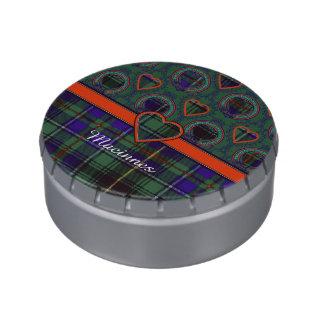 Tartán del escocés de la tela escocesa del clan de frascos de caramelos
