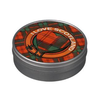 Tartán del escocés de la tela escocesa del clan de latas de dulces