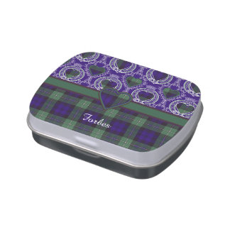 Tartán del escocés de la tela escocesa del clan de jarrones de dulces