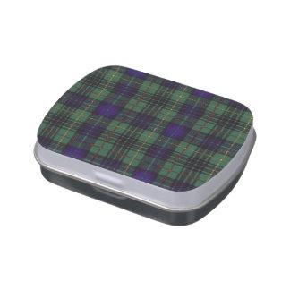 Tartán del escocés de la tela escocesa del clan de latas de caramelos