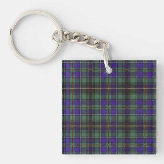 Tartán del escocés de la tela escocesa del clan de llavero cuadrado acrílico a doble cara