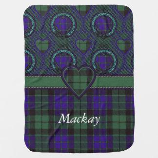 Tartán del escocés de la tela escocesa del clan de manta de bebé
