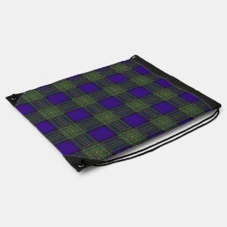 Tartán del escocés de la tela escocesa del clan de mochila