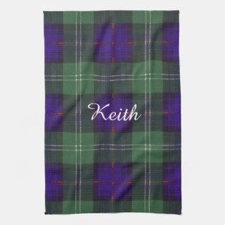 Tartán del escocés de la tela escocesa del clan de toalla de cocina