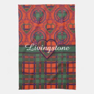 Tartán del escocés de la tela escocesa del clan de toalla
