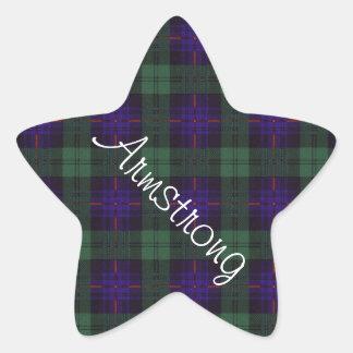 Tartán del escocés de la tela escocesa del clan de pegatina en forma de estrella