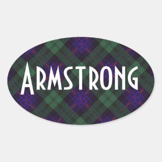 Tartán del escocés de la tela escocesa del clan de pegatina ovalada