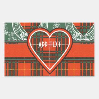 Tartán del escocés de la tela escocesa del clan de pegatina rectangular