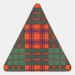 Tartán del escocés de la tela escocesa del clan de pegatina triangular